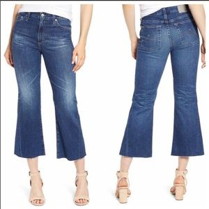 AG The Quinne Crop High Rise Kick Flare Jeans